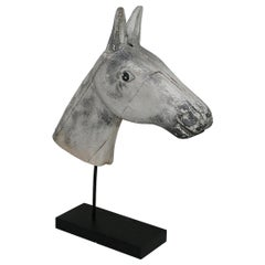 French Late 19th Century Folk Art Wooden Horse Head