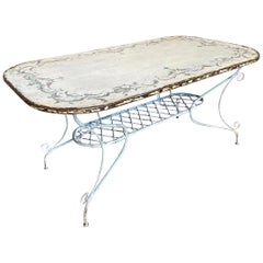 French Late 19th Century Garden Table