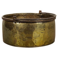 French Late 19th Century Large Brass Pot