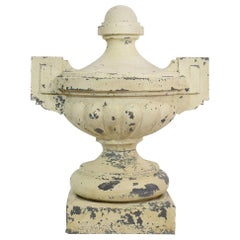 French Late 19th Century Large Zinc Vase