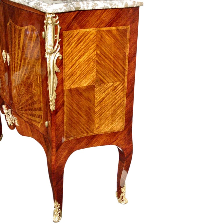 French Late 19th Century Louis XV Style Cabinet In Good Condition For Sale In West Palm Beach, FL