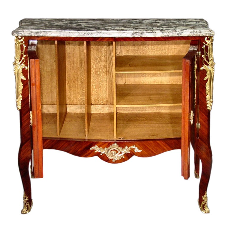 Kingwood French Late 19th Century Louis XV Style Cabinet For Sale