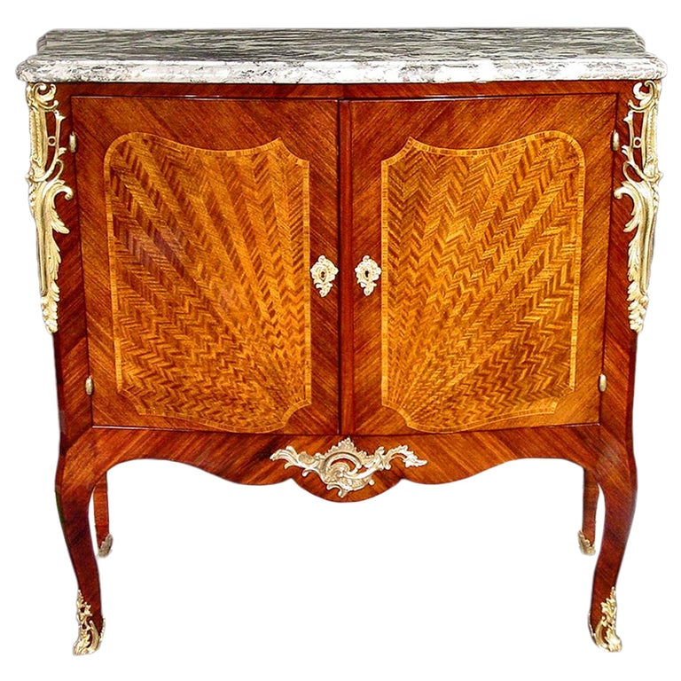 French Late 19th Century Louis XV Style Cabinet For Sale