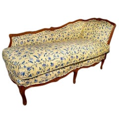French Late 19th Century Louis XVI Style Oak Lounge Chair