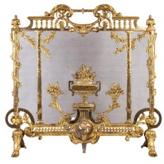 French Late 19th Century Louis XVI Style Fire Screen