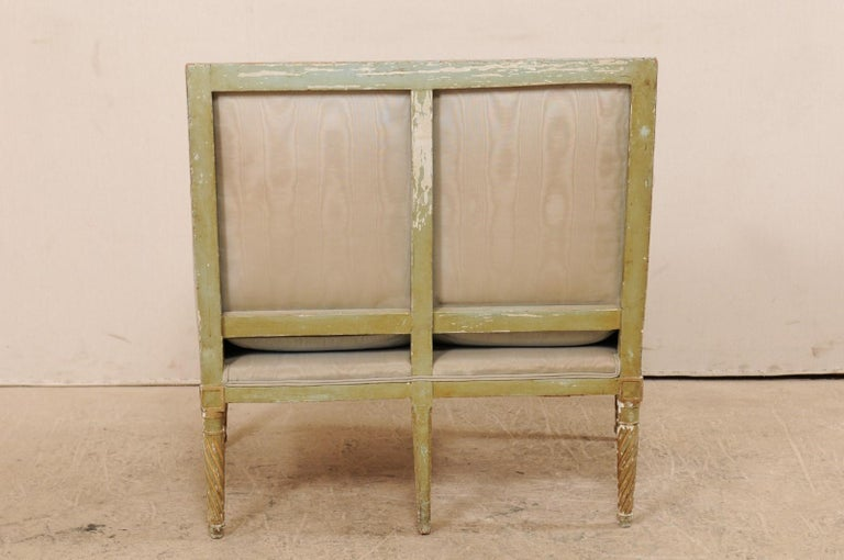 French Late 19th Century Louis XVI Style Marquise Armchair For Sale 6