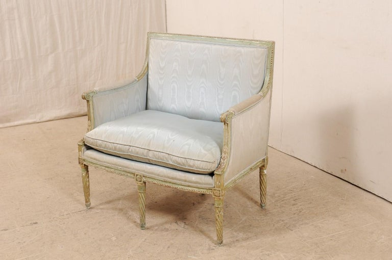 French Late 19th Century Louis XVI Style Marquise Armchair In Good Condition For Sale In Atlanta, GA