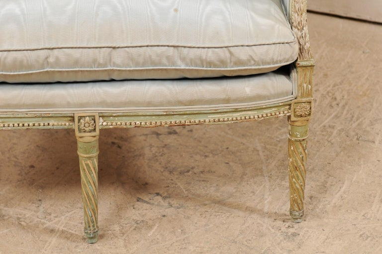 French Late 19th Century Louis XVI Style Marquise Armchair For Sale 1