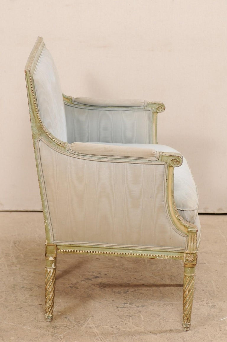 French Late 19th Century Louis XVI Style Marquise Armchair For Sale 2