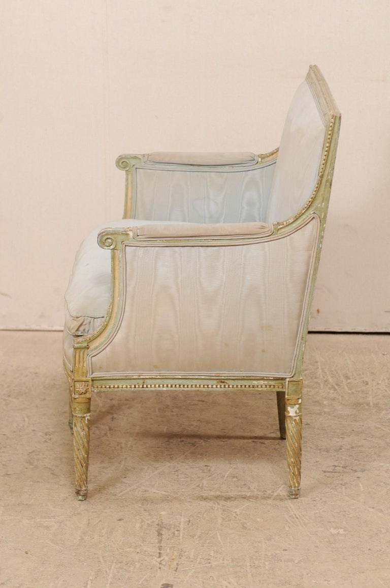 French Late 19th Century Louis XVI Style Marquise Armchair For Sale 3