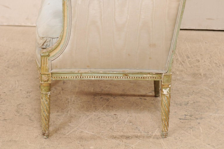 French Late 19th Century Louis XVI Style Marquise Armchair For Sale 4