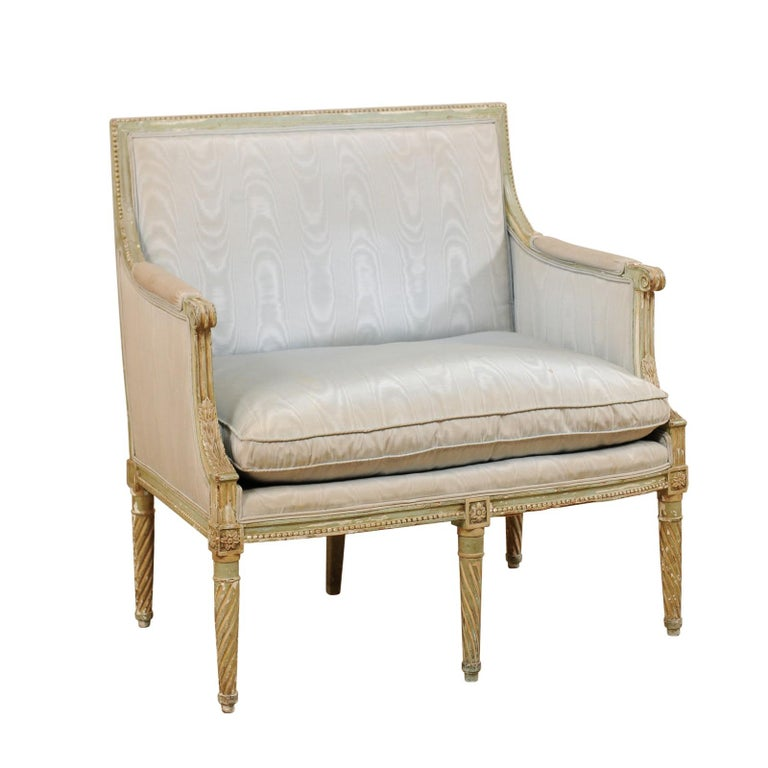 French Late 19th Century Louis XVI Style Marquise Armchair For Sale