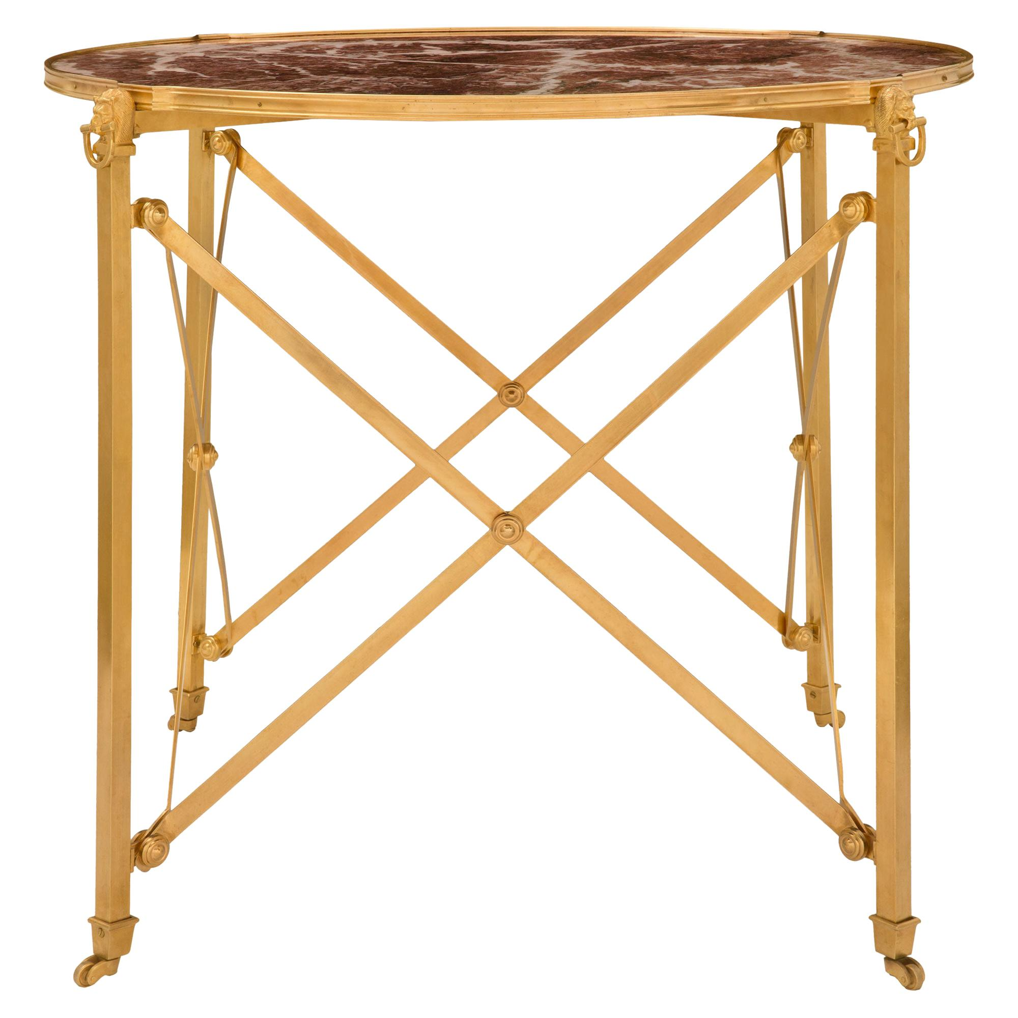 French Late 19th Century Neoclassical St. Center or Side Table