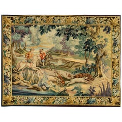 French Late 19th Century Tapestry  5'5 x 7'