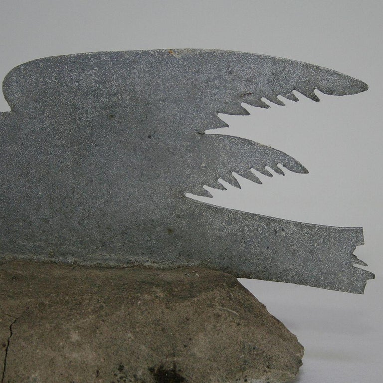 French Late 19th Century Zinc Dove For Sale 3
