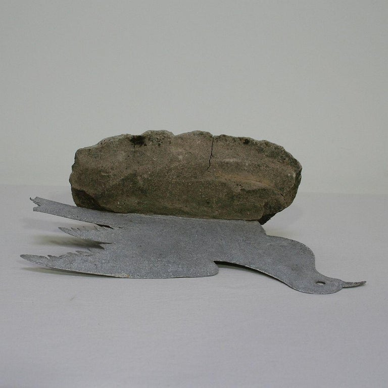 French Late 19th Century Zinc Dove For Sale 6