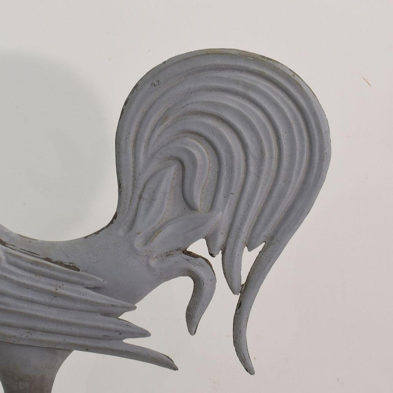 French Late 19th Century Zinc Rooster/Cockerel Weathervane For Sale 8