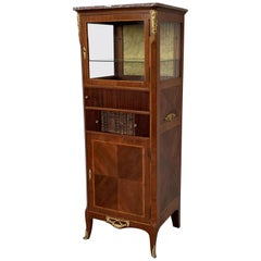 French Late 20th Century Louis XVI Period Mounted Cabinet Vitrine