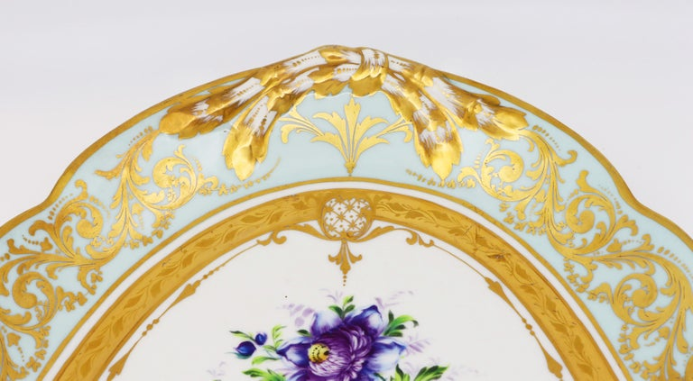 French Le Tallec Hand Painted Porcelain Soupière, Mid-20th Century, Rococo Style For Sale 2