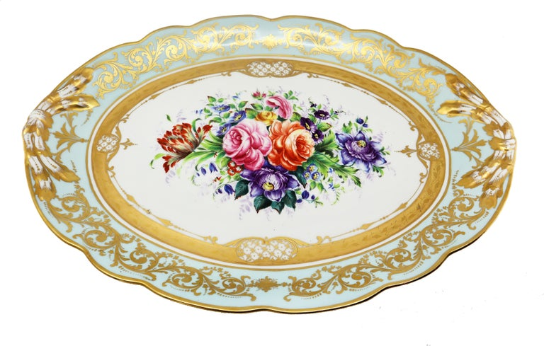 French Le Tallec Hand Painted Porcelain Soupière, Mid-20th Century, Rococo Style For Sale 6