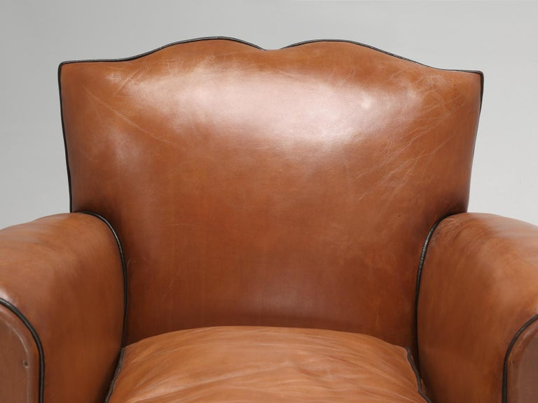 Our policy here at old plank, is that if at all humanly possible, regardless of cost, try to save the original leather, well in this case, the leather was like torn cardboard. Our old plank upholstery department, completely stripped these French
