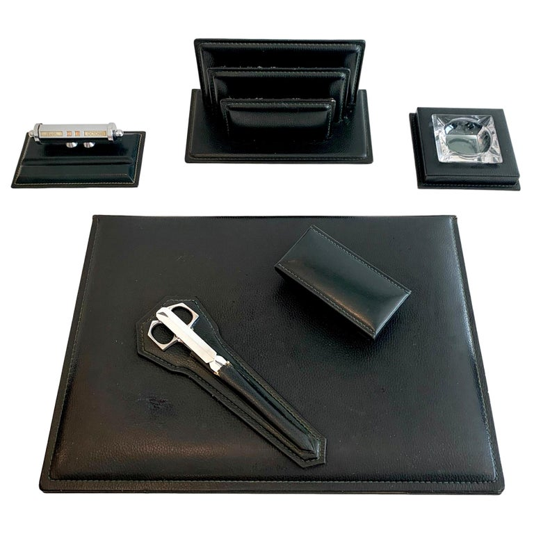 French Leather Desk Set by Le Tanneur