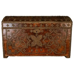 French Leather Studded Trunk