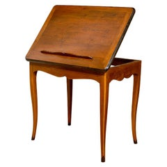 French Lecturn Side Table Writing Desk from Grenoble, France