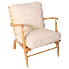 French Lemon Wood Chair, circa 1950