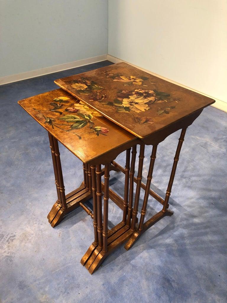 Wood French Liberty Art Nouveau Coffee Table