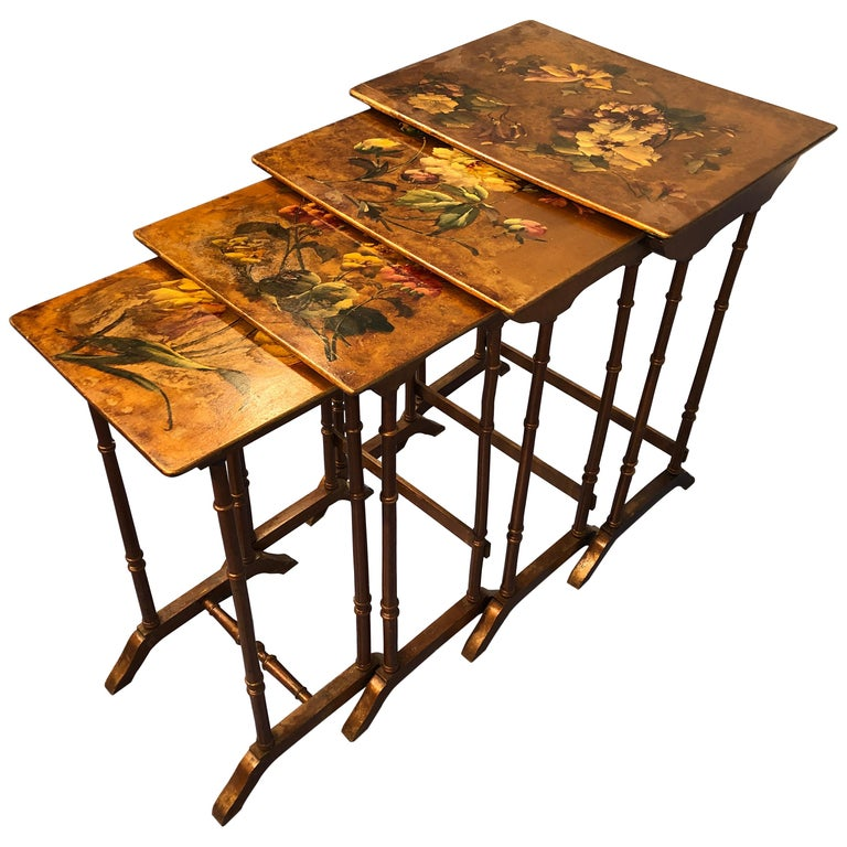 """French Liberty Art Nouveau Coffee Table """"gigognes"""", 1910 For Sale"""