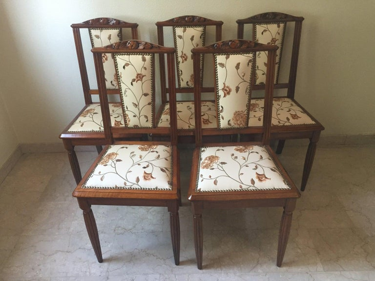 French Liberty Art Nouveau Dining Set, 1920s For Sale 1