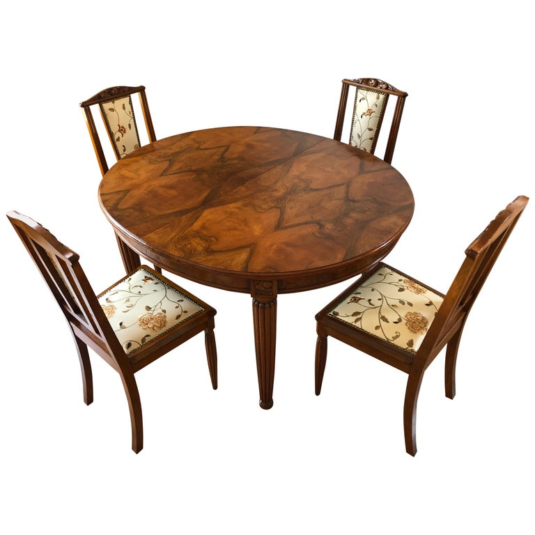 French Liberty Art Nouveau Dining Set, 1920s For Sale