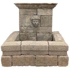 French Limestone Bacchus Fountain