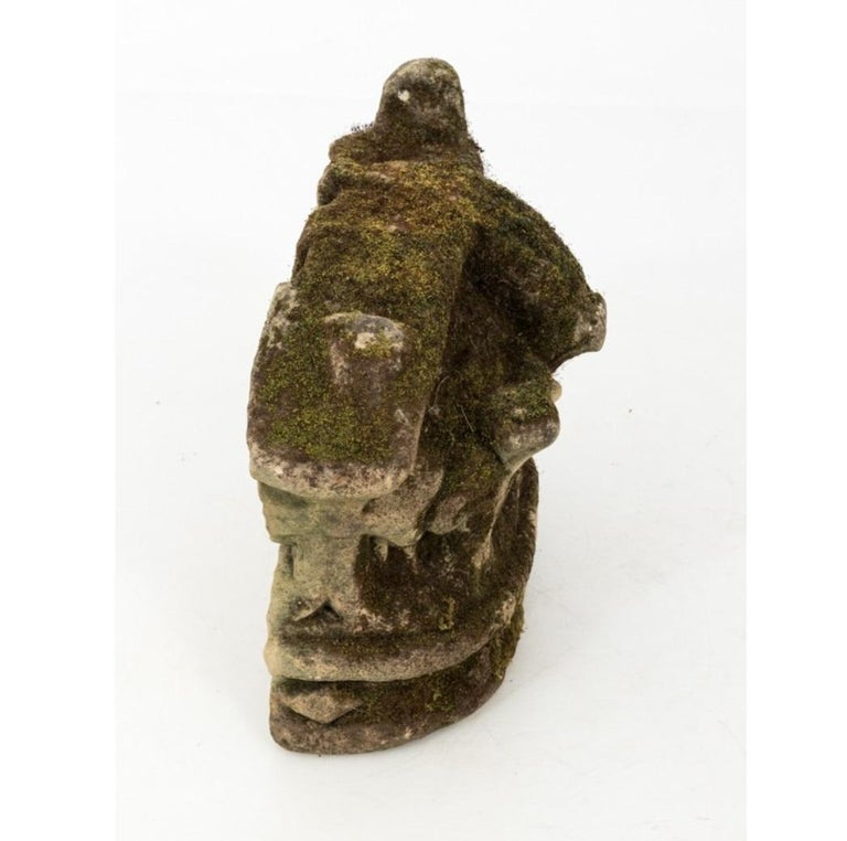 18th Century and Earlier French Limestone Crown Garden Ornament For Sale