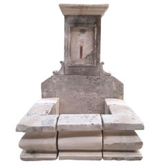 French Limestone Fountain, 20th Century, France
