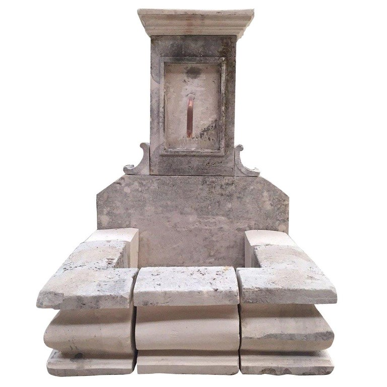 French Limestone Fountain, 20th Century, France For Sale