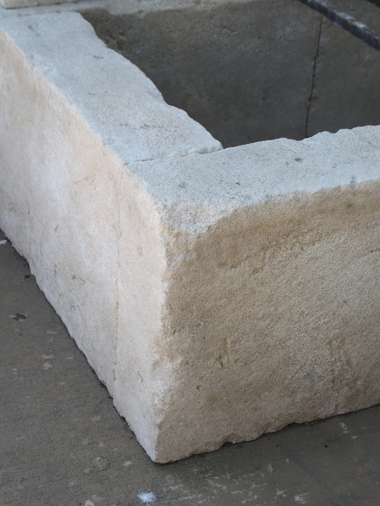 French Limestone Wall Fountain with Carved Stone Spout For Sale 6