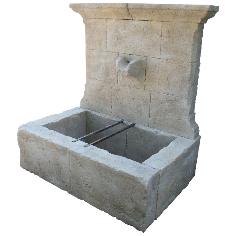 Limestone wall fountain, new, offered by Le Louvre French Antiques