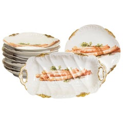 French Limoges Asparagus Service for Eight