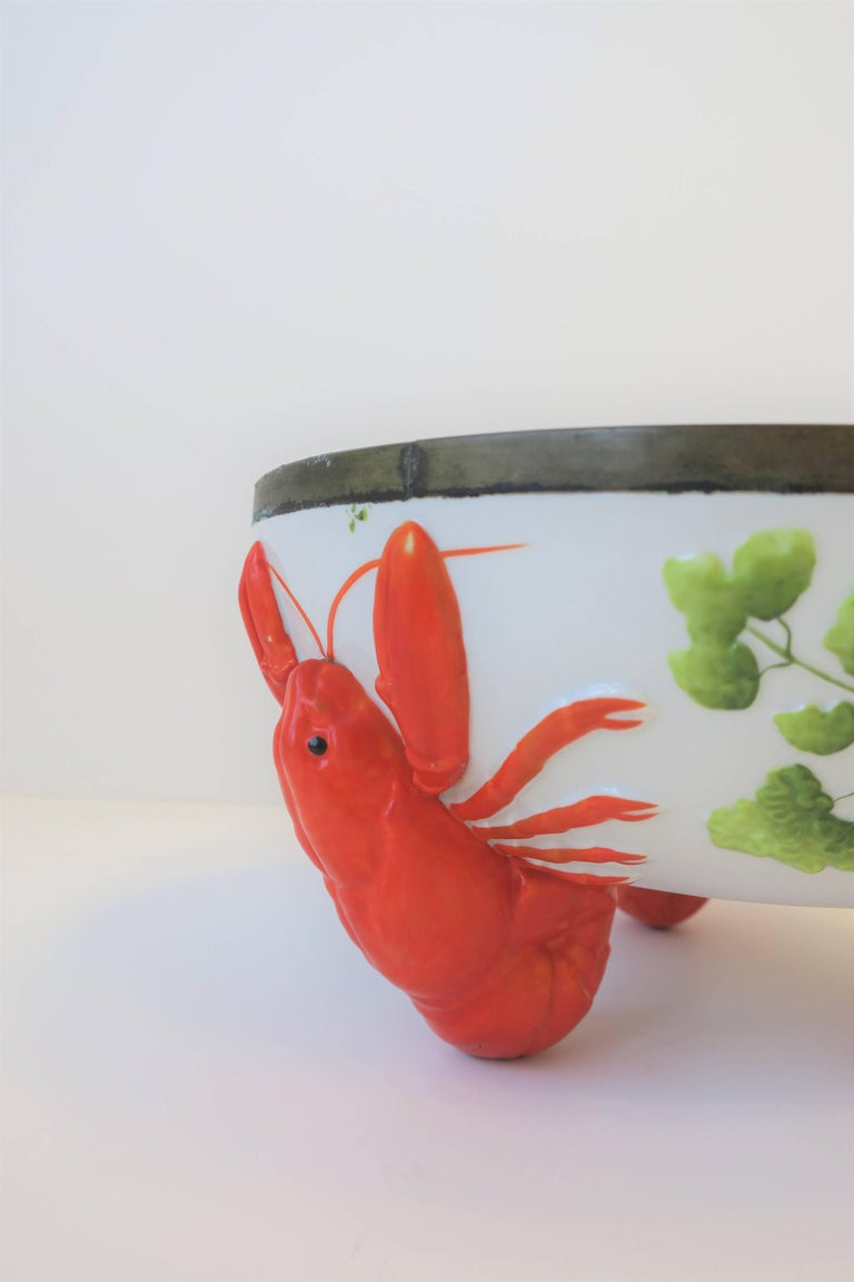 French Limoges Lobster Bowl For Sale 2