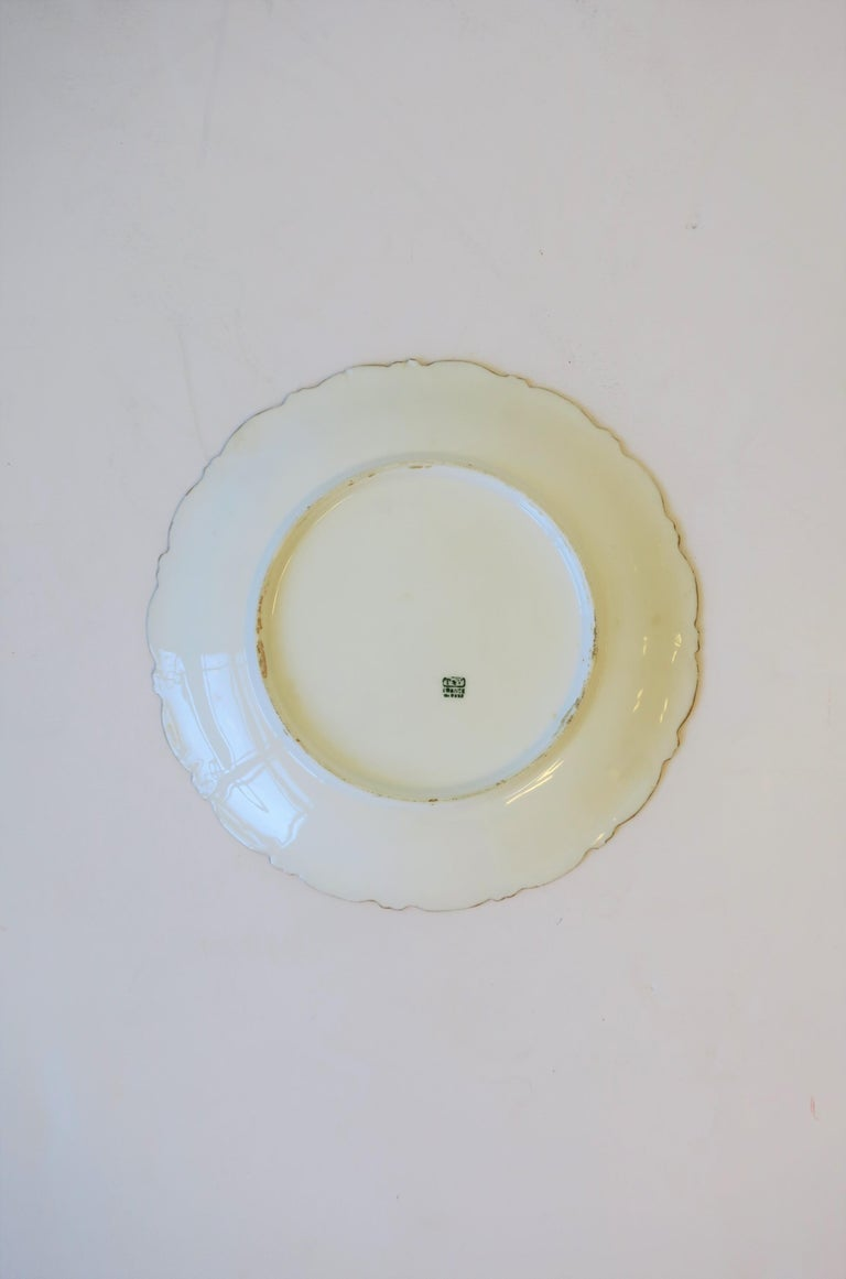 French Limoges Wall Art Painted Plate, ca. Early-20th Century For Sale 1