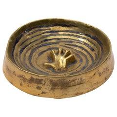 """French, Line Vautrin, Gilded Bronze Pocket Emptier """"Main dans les flots"""""""