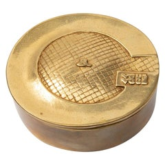 French, Line Vautrin, J'ai Grand Appétit de Vous, Gilded Bronze Box