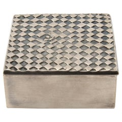 "French, Line Vautrin, ""Seul au monde"" Silvered Bronze Box"