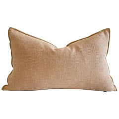 French Linen Nude Blush Accent Lumbar Pillow