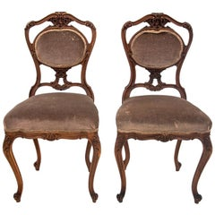 French Loius Phillipe Antique Chairs