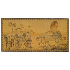 French Loomed Sphinx Tapestry, circa 1900