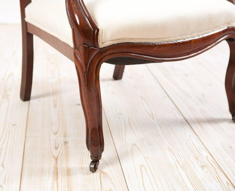 French Louis Philippe Armchair/Fauteuil in Mahogany with Upholstery, circa 1830 For Sale 2