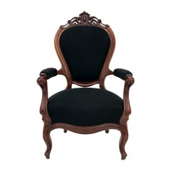 French Louis Philippe Black Armchair